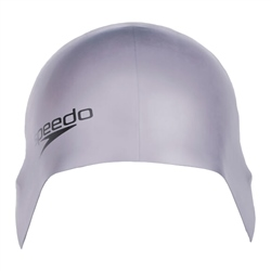 Speedo Plain Moulded Silicone Cap - Grey
