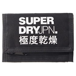 Superdry Tri Fold Wallet - Black