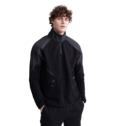 Superdry Polar Fleece Block Track Top - Black