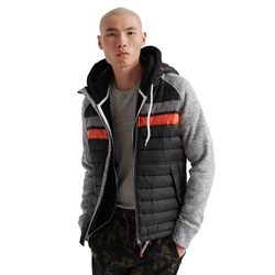 Superdry Storm Chest Stripe Hybrid Jacket - Black