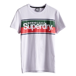 Superdry Core Logo Stripe T-Shirt - Optic