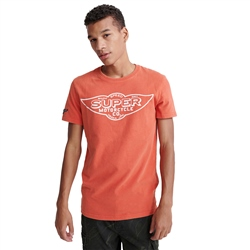 Superdry Merch Store Band T-Shirt - Desert Red