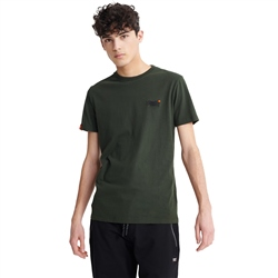 Superdry Orange Label Vintage Embroidered T-Shirt - Surplus Goods Olive