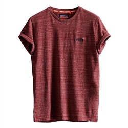 Superdry Vintage Embroiderey T-Shirt - Brick Red Space Dye