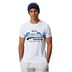 Superdry Vintage Logo Cross Hatch T-Shirt - Optic