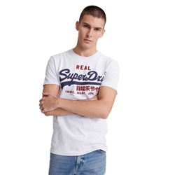 Superdry Vintage Logo Heat Sealed T-Shirt - Ice Marl