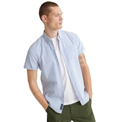 Superdry Classic Seersucker Shirt - Blue Stripe