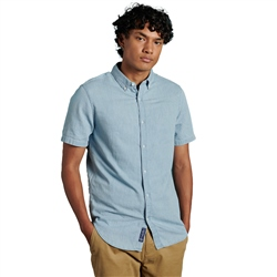 Superdry Classic Twill Lite Shirt - Nordic Blue Chambray