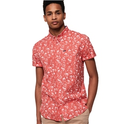 Superdry Premium Shoreditch Shirt - Akio Coral