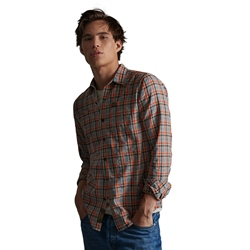 Superdry Workwear Lite Shirt - Orange Check