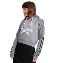 Superdry Classic Boutique Original Hoody - Grey Grit Silver Sparkle