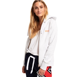 Superdry Primary Zipped Hoody - Ice Marl