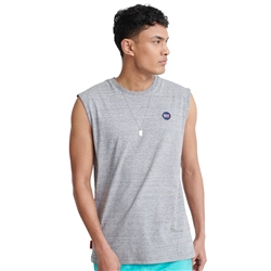Superdry Collective Oversized Vest - Dark Grey Grit