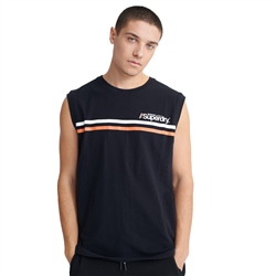 Superdry Core Logo Sport Stripe Vest - Black