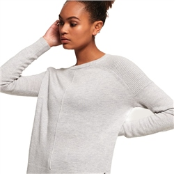 Superdry Bria Raglan Knit Jumper - Dawn Grey Marl