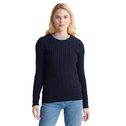 Superdry Croyde Bay Cable Knit Jumper - Eclipse Navy