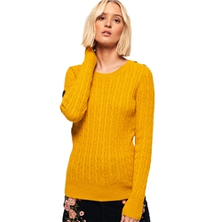 Superdry Croyde Cable Knit Jumper - Ochre