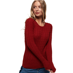 Superdry Croyde Cable Knit Jumper - Rust