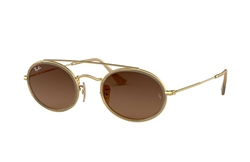 Ray-Ban Oval Double Bridge Sunglasses - Brown Gradient