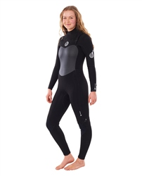 Rip Curl FlashBomb 3/2mm Chest Zip Wetsuit (2020) - Black