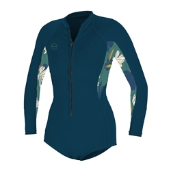 O'Neill Bahia 2/1mm Front Zip Spring Wetsuit (2020) - French Navy & Bridget