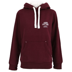 ACS Clothing Polzeath Hoody - Maroon & White