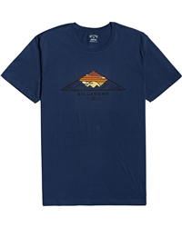 Billabong Mt Cayley T-Shirt - Denim Blue