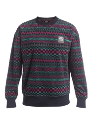 Quiksilver Soul Power Sweatshirt - True Black Capsule Stripe