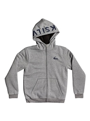 Quiksilver Best Wave Sherpa Zip Hoody - Medium Grey Heather