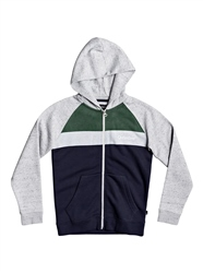 Quiksilver Easy Day Zip Hoody - Light Grey Heather