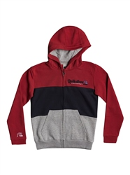 Quiksilver Tropical Block Zip Hoody - American Red