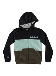 Quiksilver Tropical Block Zip Hoody - Dark Grey Heather