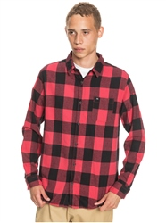 Quiksilver Motherfly Flannel Shirt - Americas Red