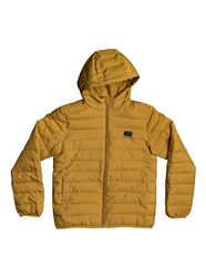 Quiksilver Scally Hooded Puffer Jacket - Honey