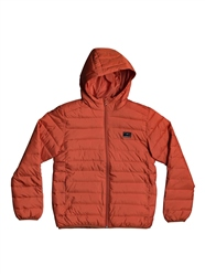 Quiksilver Scaly Hooded Puffer Jacket - Chili
