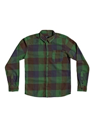Quiksilver Boys Motherfly Flannel Shirt - Greener Pasture