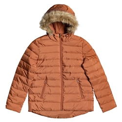 Roxy Rock Peak Fur Jacket - Auburn