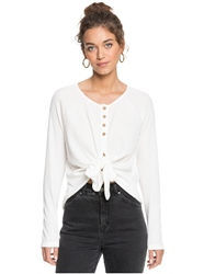 Roxy Sea Border Top - White