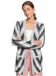 Roxy Pure Shores Cardigan - Heritage Heather Sola