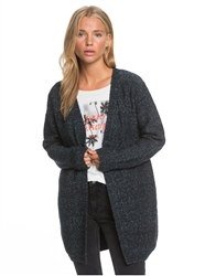 Roxy Take The Key Cardigan - Anthracite