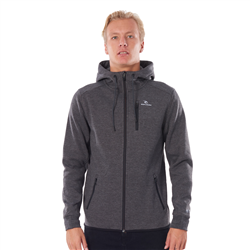 Rip Curl Departed Anti-Series Zip Fleece Hoody - Charcoal Grey