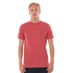 Rip Curl 10m T-Shirt - Washed Red
