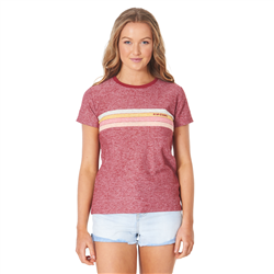 Rip Curl Golden Days Standard T-Shirt - Maroon