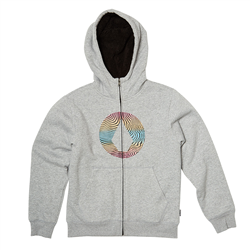 Volcom Stone Lined Zip Hoody - Heather Grey