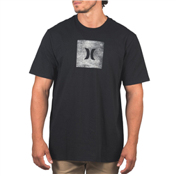 Hurley Core Icon Box Texture T-Shirt - Black