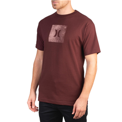Hurley Core Icon Box Texture T-Shirt - Mystic Dates