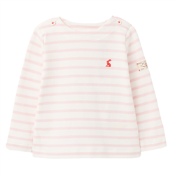 Joules Harbour Stripe T-Shirt - White Pink Stripe
