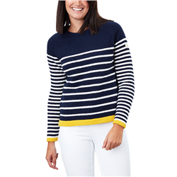 Joules Seaport Chenille Raglan Jumper - Navy Stripe