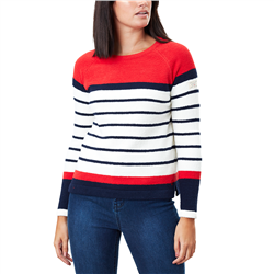 Joules Seaport Chenille Raglan Jumper - Red Stripe