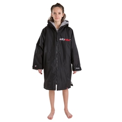 Dryrobe Small Kids Advance Long Sleeved Dryrobe - Black & Grey